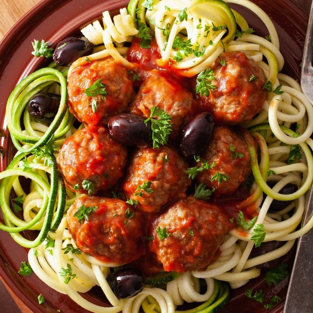 Meatballs with Zoodles