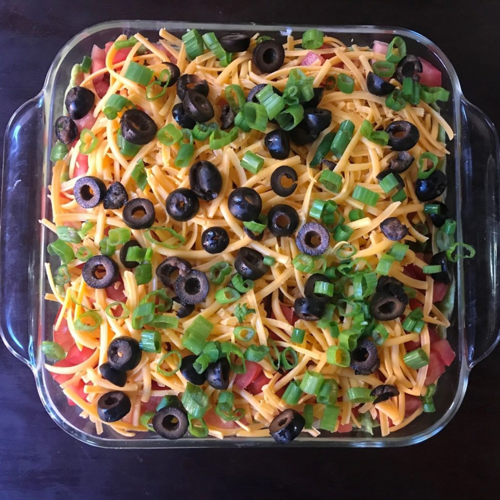 Keto and Low Carb 7 Layer Taco Dip 1