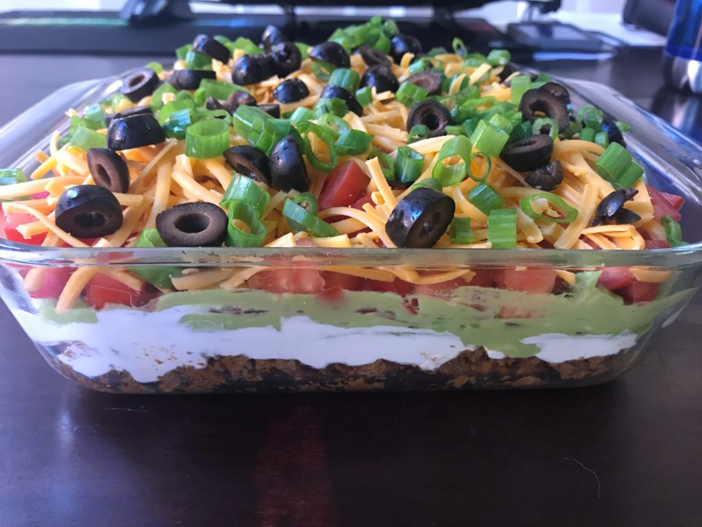 Keto and Low Carb 7 Layer Taco Dip 2