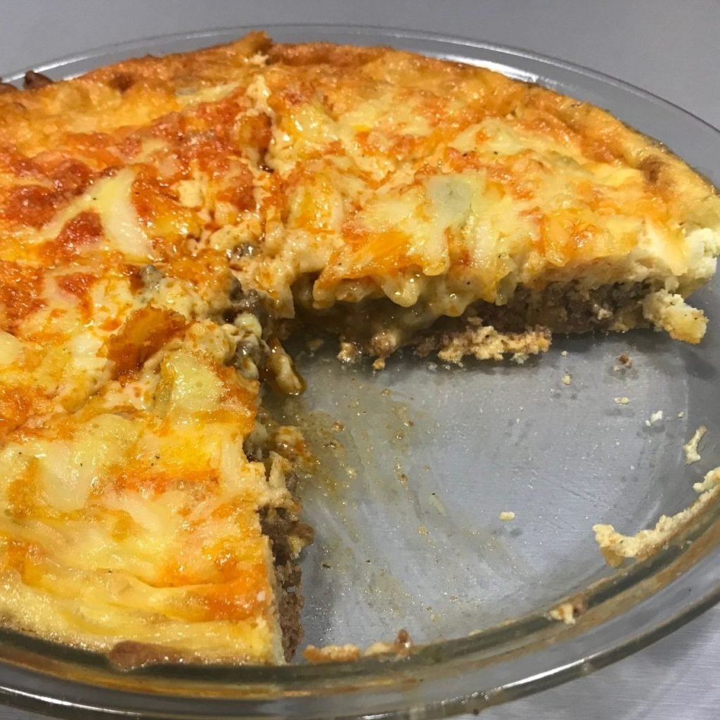 Keto and Low Carb Easy Taco Pie