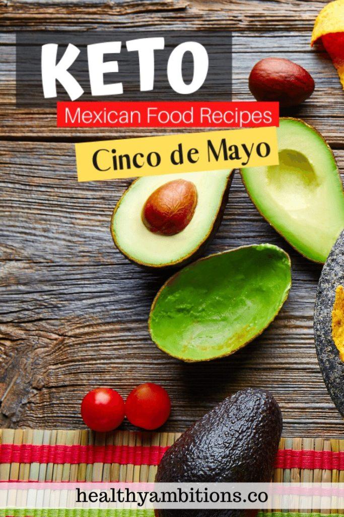 Keto Mexican Food Recipes for Cinco de Mayo pin 1