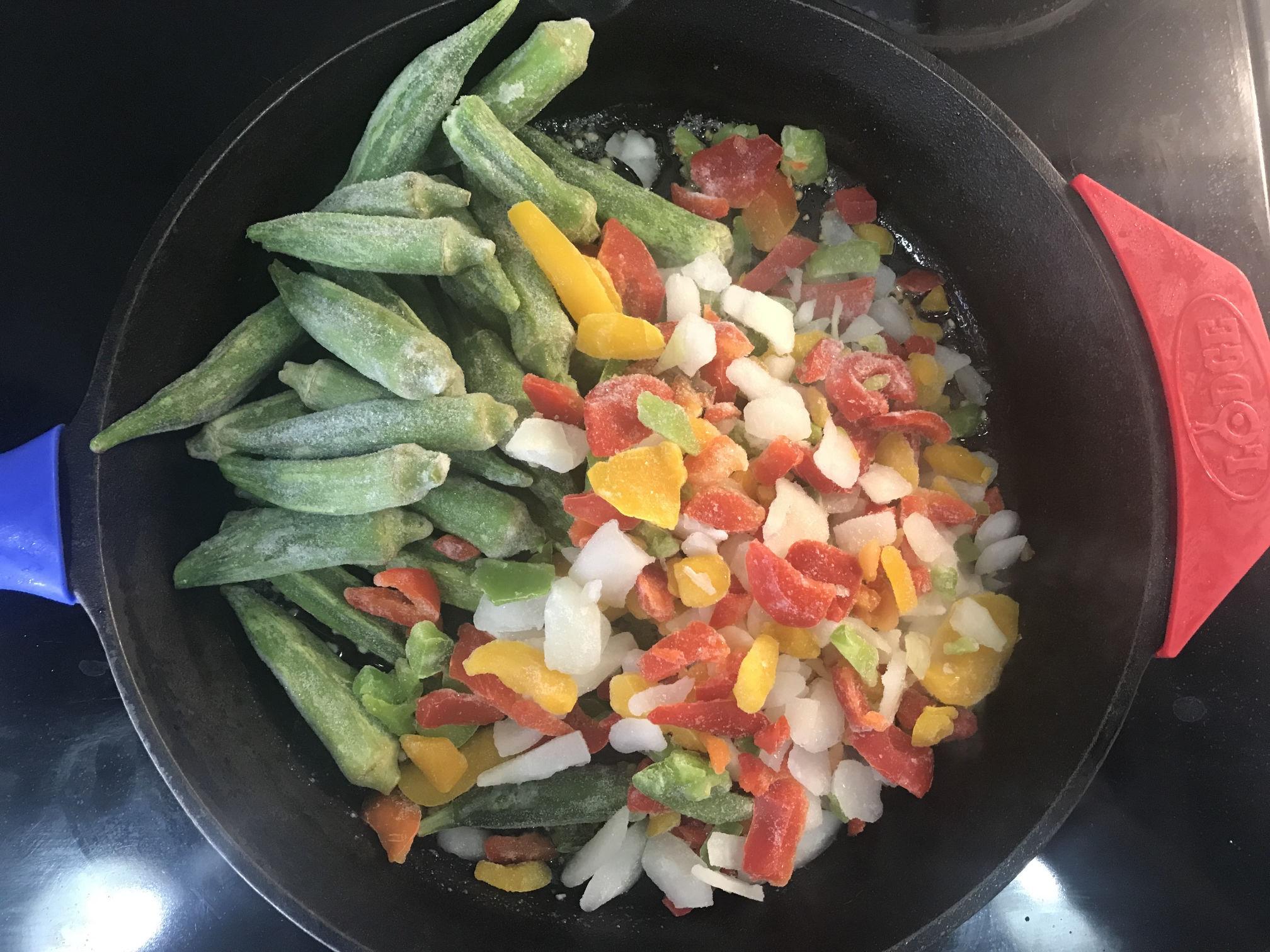 Chipotle Okra Recipe Ingredients Skillet