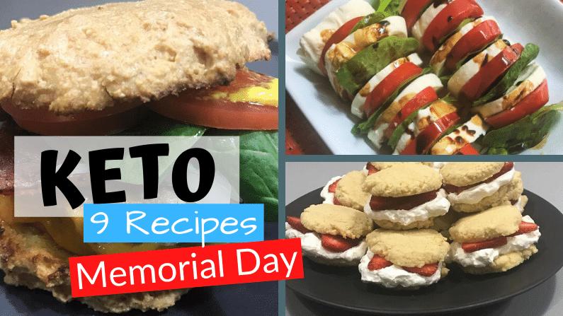 Keto Memorial Day Recipes hamburger and whoopie pies