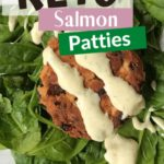Keto Wild Caught Salmon Patties pin 1