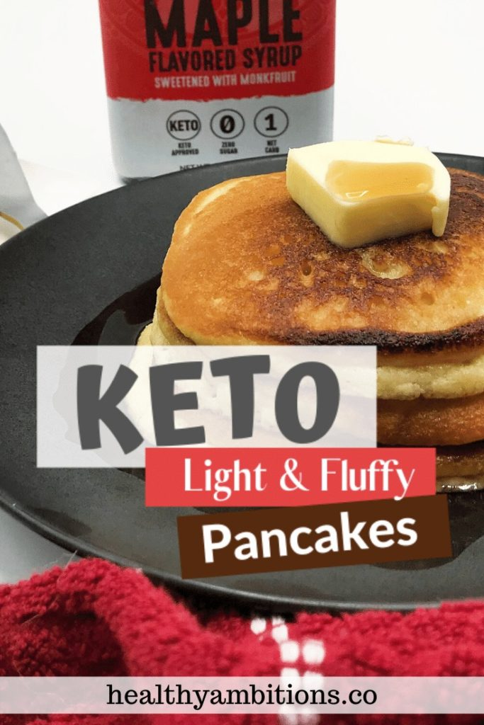 The Best Light and Fluffy Keto Pancakes Pin 1