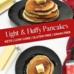 The Best Light and Fluffy Keto Pancakes pin 2