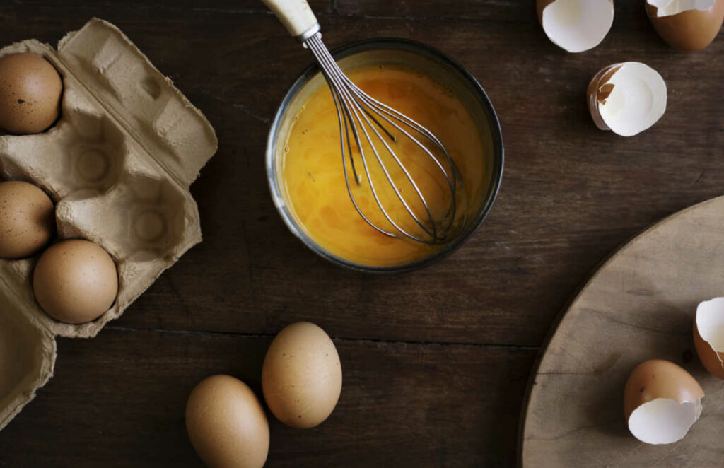 Keto Egg Fast Diet scrambled eggs in saucepan