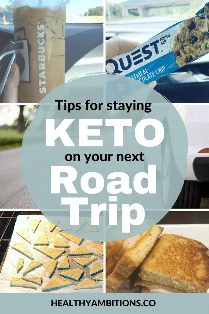 Keto Road Trip Snacks Vertical Collage