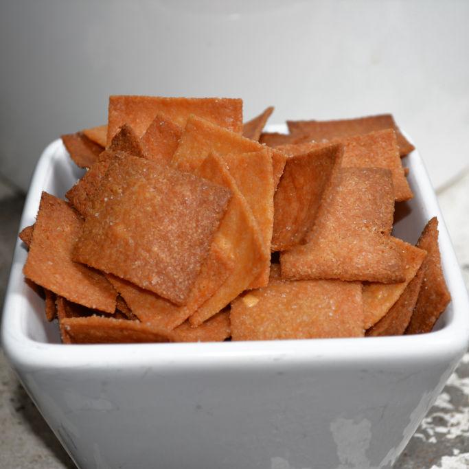 Keto Crunchy Cheese Cracker baked