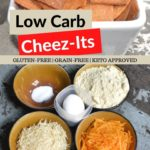 Low Carb Cheese Crackers pin 1