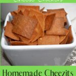Low Carb Crunchy Cheese Crackers pin 2