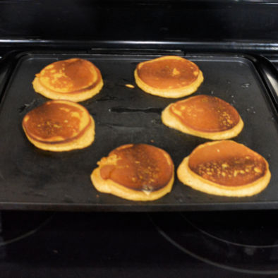 Keto Pumpkin Pancakes Recipe Cooking On Griddle