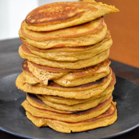 Keto Pumpkin Blender Pancakes