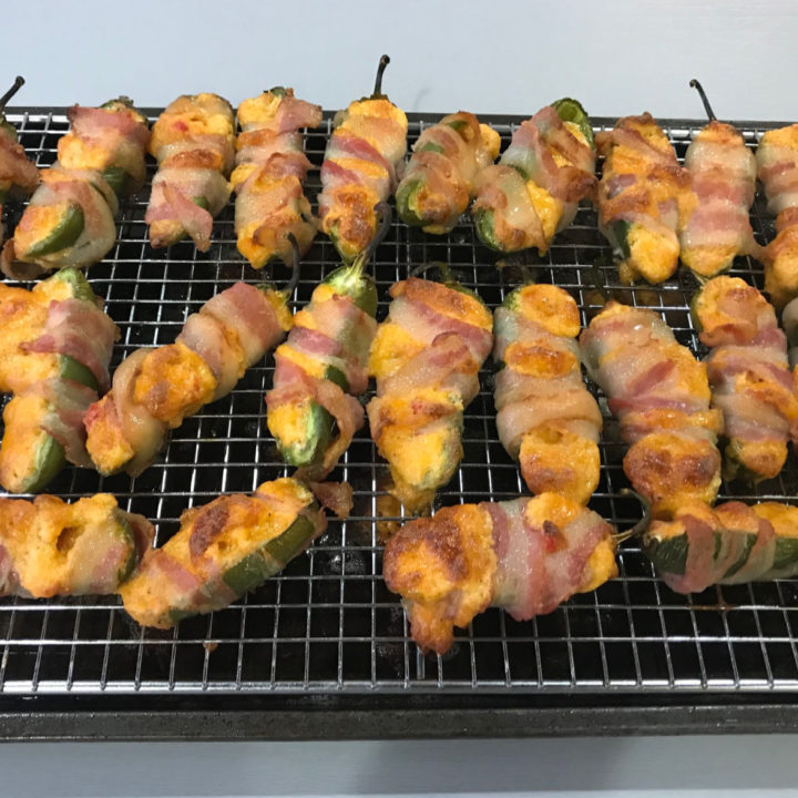 Keto Bacon-Wrapped Pimento Cheese Poppers