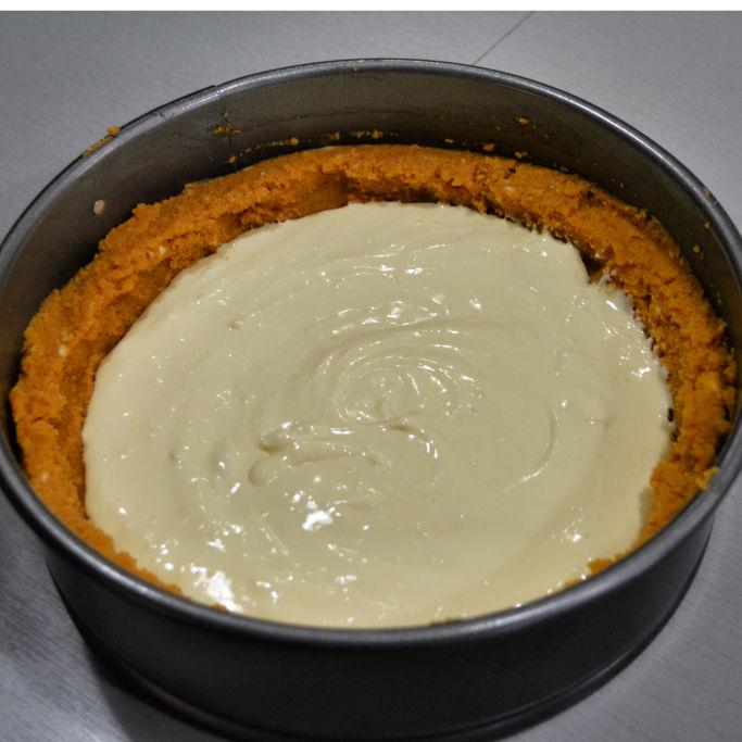 Layered Pumpkin Cheesecake Cake Mix
