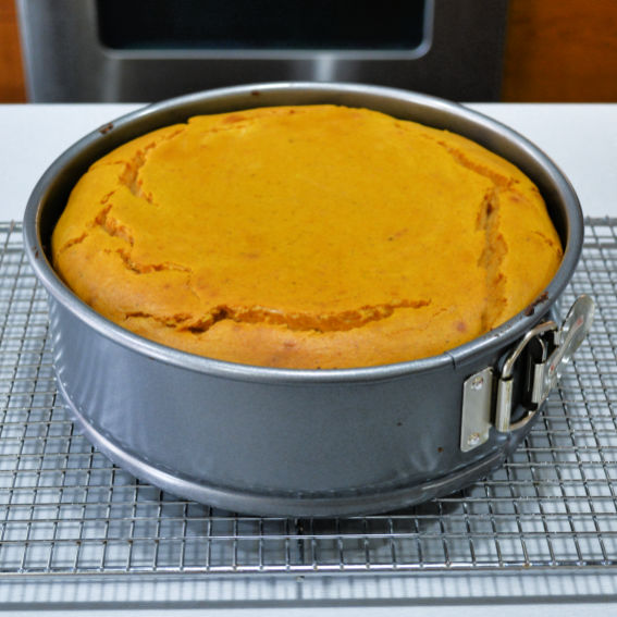 Layered Pumpkin Cheesecake Baked