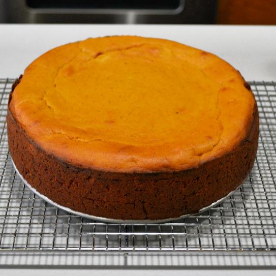 Layered Pumpkin Cheesecake Cooling Rack