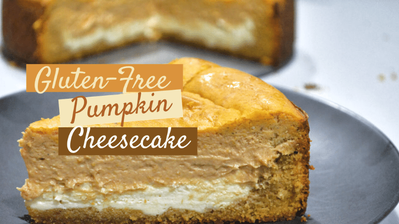 Keto Layered Pumpkin Cheesecake with a Cookie Crust