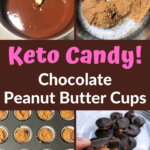 Pin 2 Keto Chocolate Peanut Butter Cups