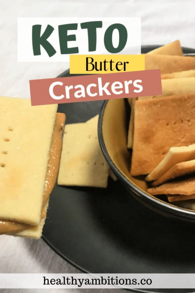 The Best Keto Butter Crackers pin 1