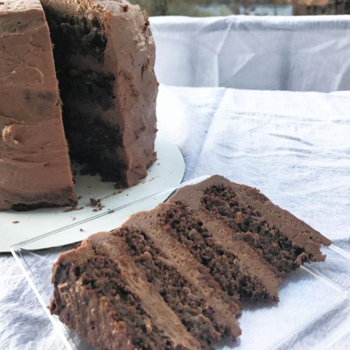 Incredibly Rich Keto Chocolate Layer Cake Recipe Card