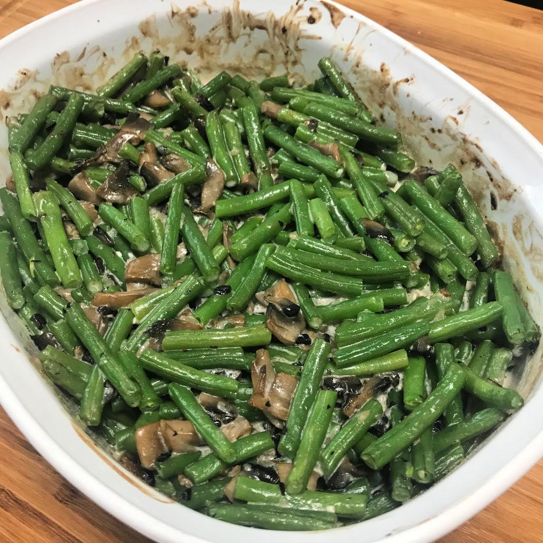 Green beans post bake
