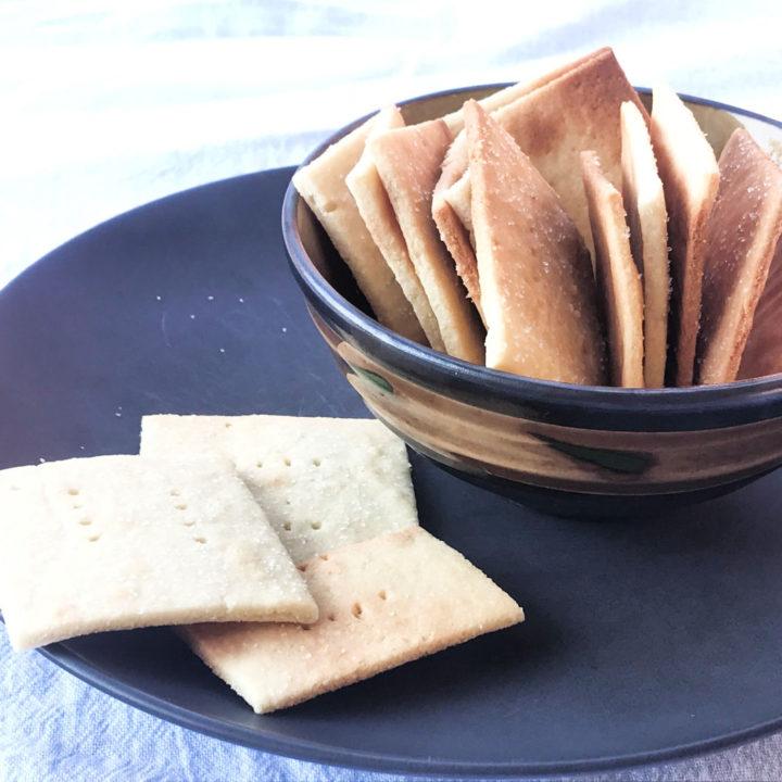 Butter cracker recipe card