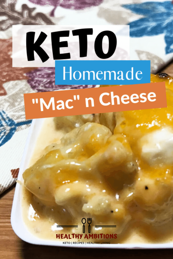 Keto Mac 'n Cheese for Your Holiday Gathering Pin 1