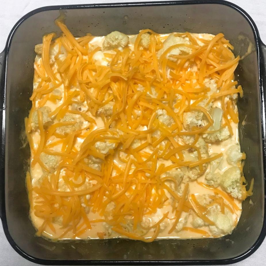 Keto Cauliflower Mac 'n Cheese prebake