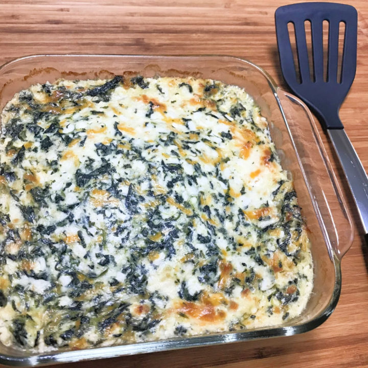 Baked Keto Spinach Casserole
