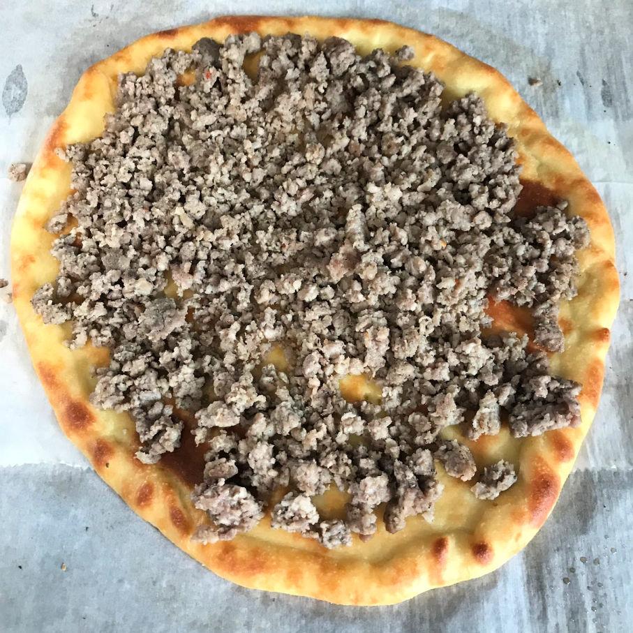 keto pizza layer 1