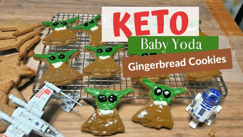 Keto Baby Yoda Gingerbread Cookies