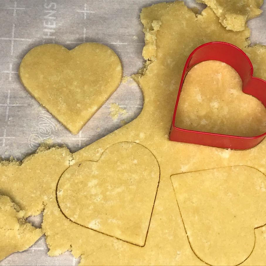 Keto Sugar Cookie Hearts