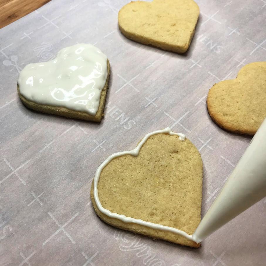 keto Sugar cookies iced