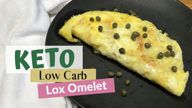 Keto Low Carb Lox Omelet Feature Photo