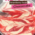 Keto Strawberry Swirl Cheesecake pin 1