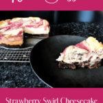 Keto Strawberry Swirl Cheesecake pin 2
