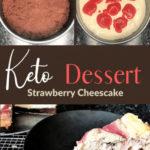 Keto Strawberry Swirl Cheesecake pin 3