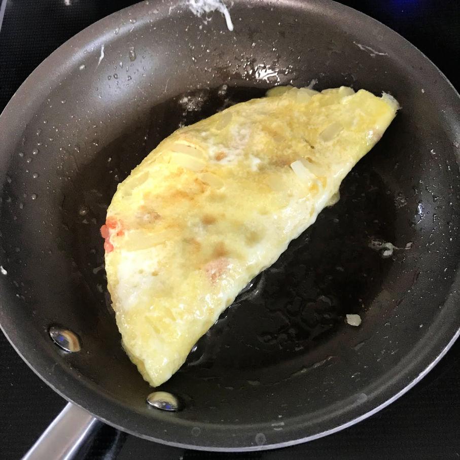 lox omelet flipped