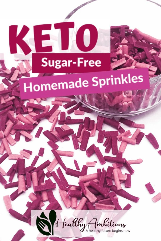 Homemade Sugar-Free Sprinkles Pin 1