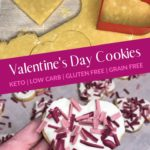 Valentine's Day Keto Heart Sugar Cookies Pin 2