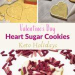 Valentine's Day Keto Heart Sugar Cookies Pin 3