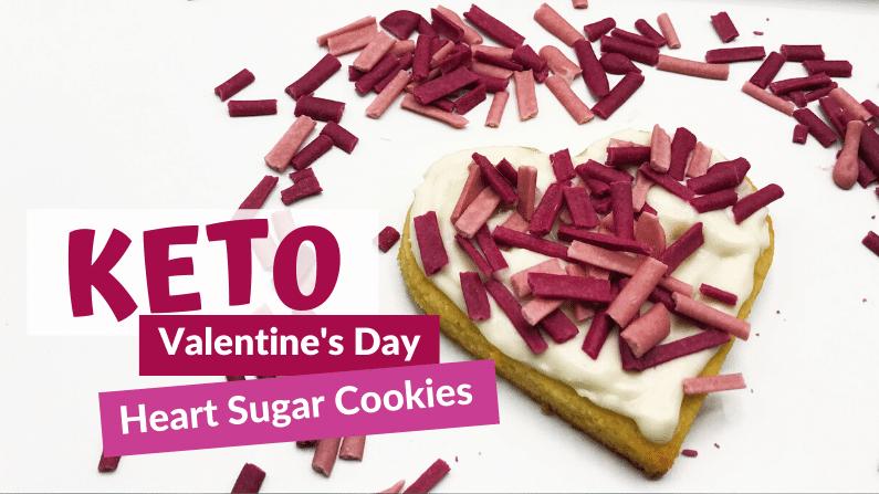 Valentine's Day Keto Heart Sugar Cookies