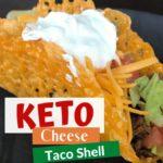 Keto Cheese Taco Shells pin 1