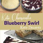 Keto Blueberry Swirl Cheesecake Pin 3