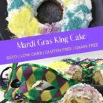 Keto Mardi Gras King Cake Pin 2