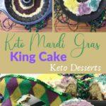 Keto Mardi Gras King Cake Pin 3