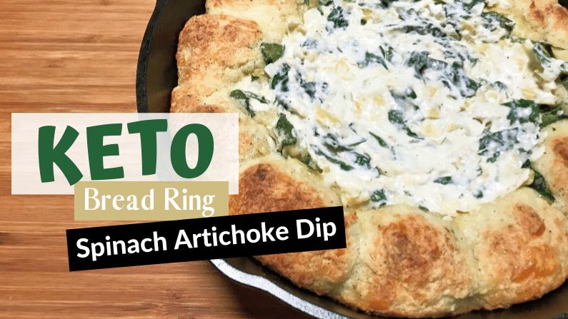 Keto Spinach Artichoke Bread Ring Dip Feature PHoto