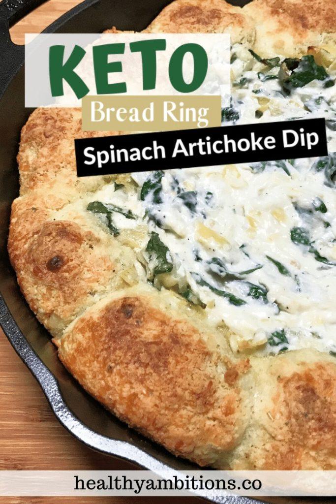 Keto Spinach Artichoke Bread Ring Dip Pin 1