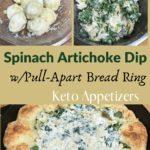 Keto Spinach Artichoke Bread Ring Dip Pin 3
